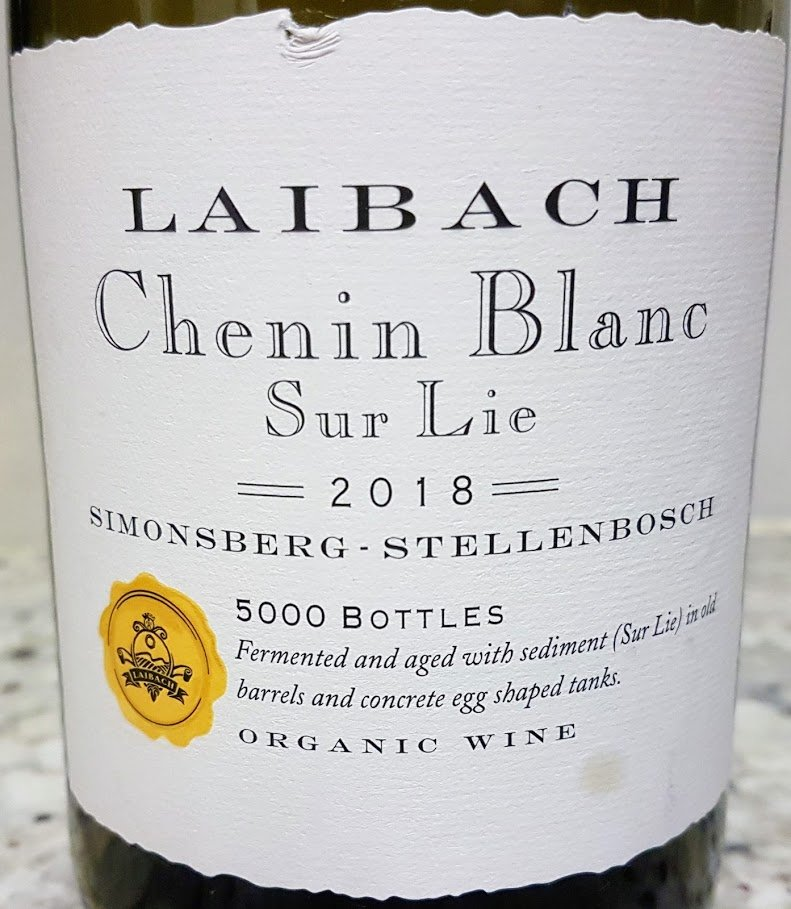 Laibach Chenin Blanc Sur Lie 2018 photo