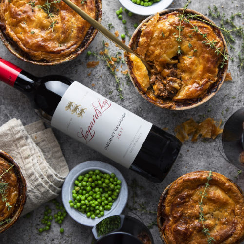 Lamb Pie and Red Wine for Winter photo