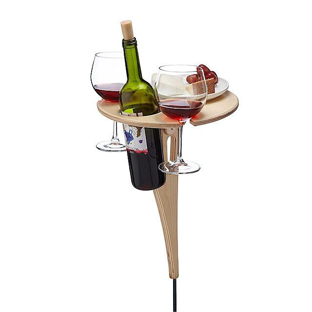 We all need one of these bespoke portable wine tables in our lives