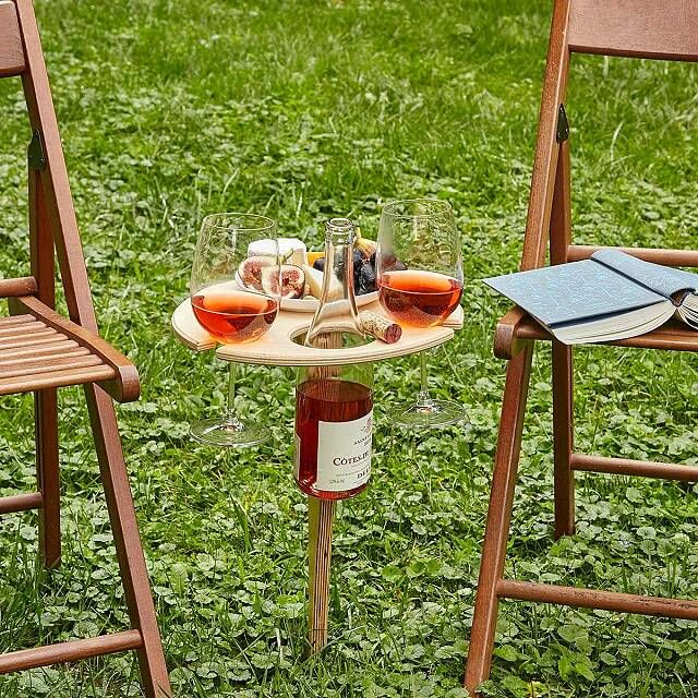 We all need one of these bespoke portable wine tables in our lives photo