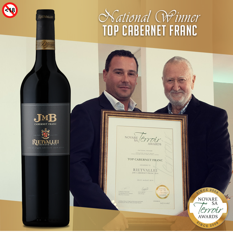 Rietvallei JMB Cabernet Franc 2014 Earns Top Honours At 2019 SA Terroir Awards photo