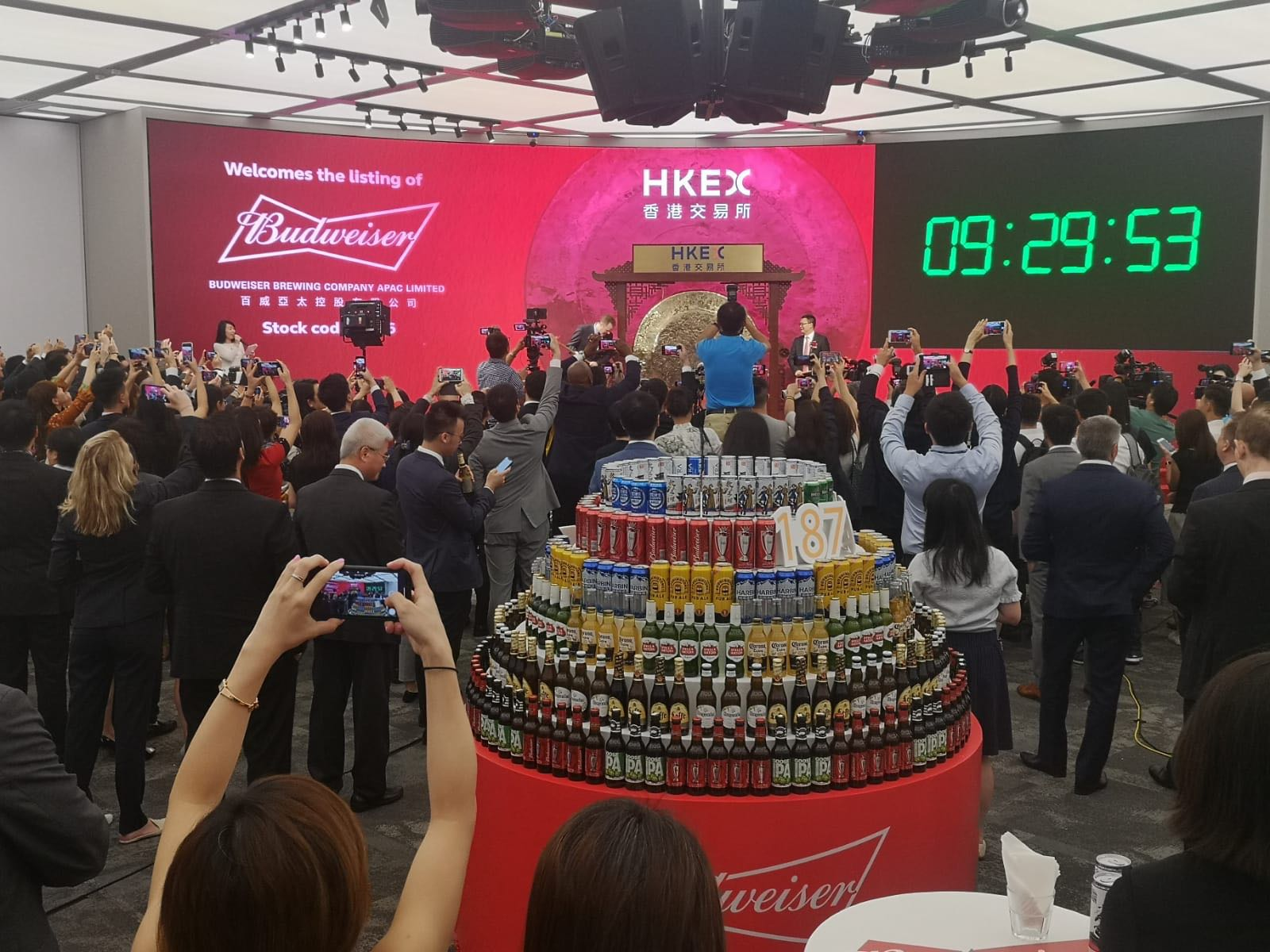Budweiser Apac Surges About 4% In Its Ipo, The Second Biggest Debut In 2019 photo