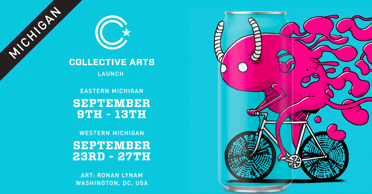 Collective Arts Brewing Launches In Michigan, Named Official Beer Sponsor Of Detroit's Murals In The Market photo