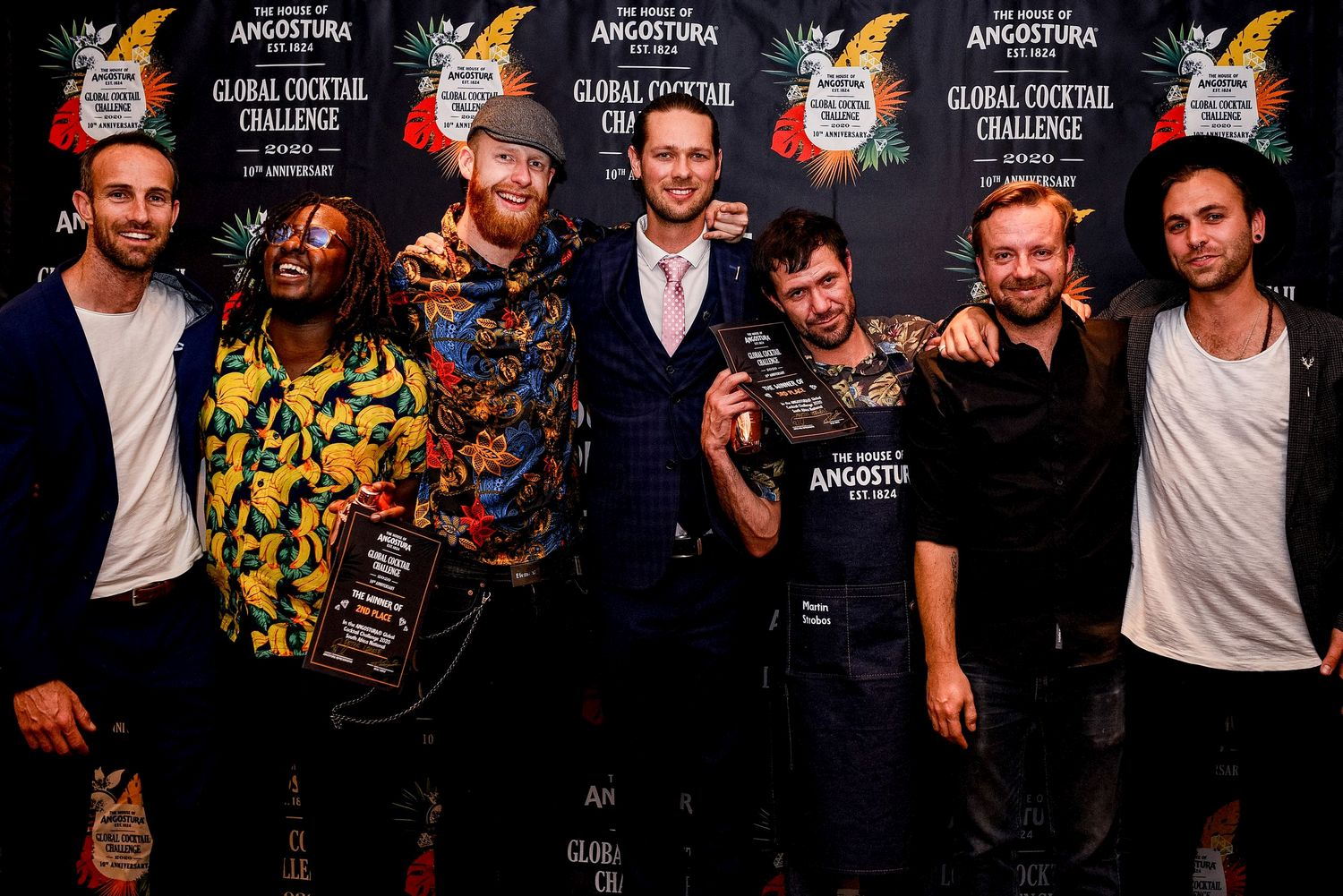 AGCC 2020 SA National Judges and Top Three Leighton Rathbone is South Africa's National Angostura® Global Cocktail Challenge Winner