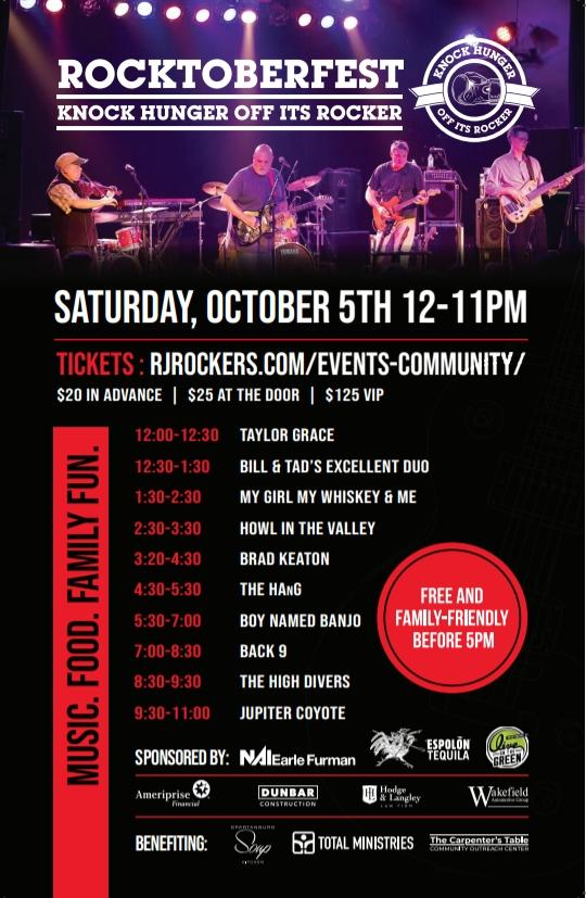 Rj Rockers' Rocktoberfest To Benefit Local Food Pantries photo