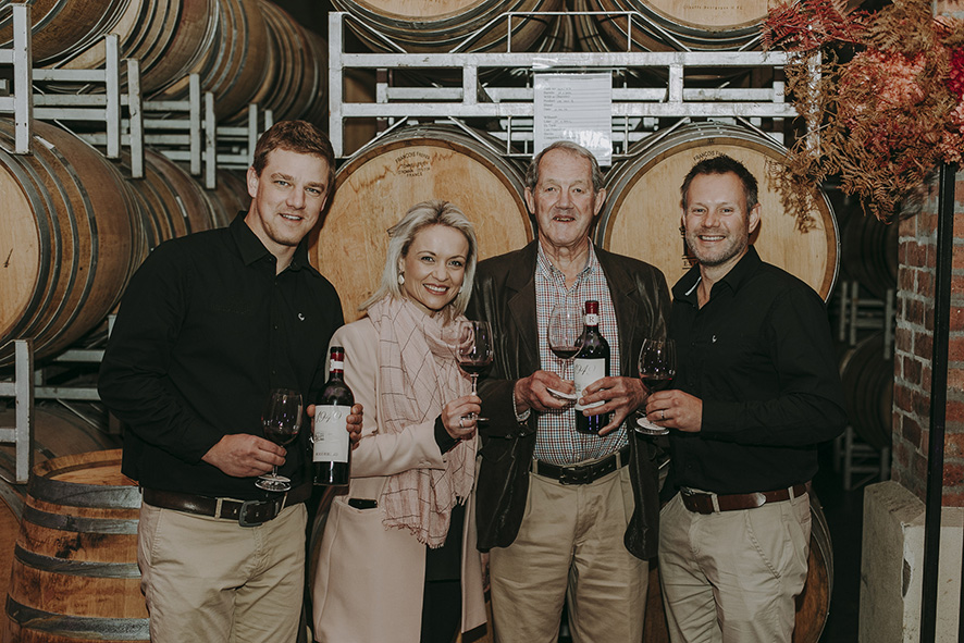 Louwitz Louw Carli Jordaan Charl Theron and Wim Truter LR New Roodeberg 1949 is a modern return to the roots of South African wine