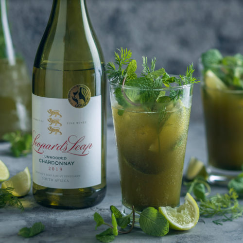 Matcha and Mint Wine Cocktail photo