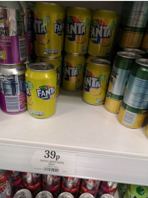 Home Bargains Is Selling Cans Of Fanta Lemon So You Can Get A Taste Of Holidays photo