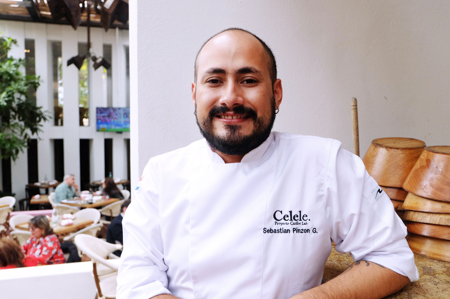 """Chef Sebastián Pinzón Of Celele: """"cooking Is A Game Of The Senses"""" photo"""