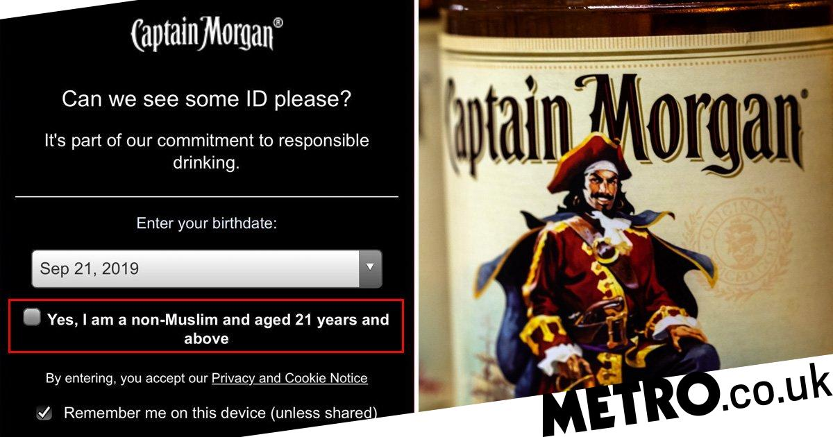 Captain Morgan Website Asks Visitors To Confirm They Are 'non-muslim' photo