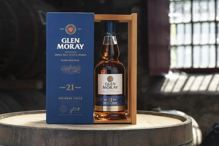 New 21 Year Old Glen Moray Scotch Finished In Ex-port Barrels photo