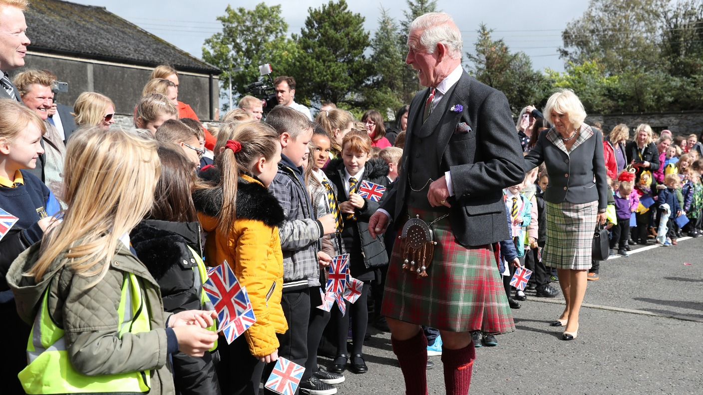 Charles And Camilla Visit D-day Planning Harbour In Dumfries And Galloway photo