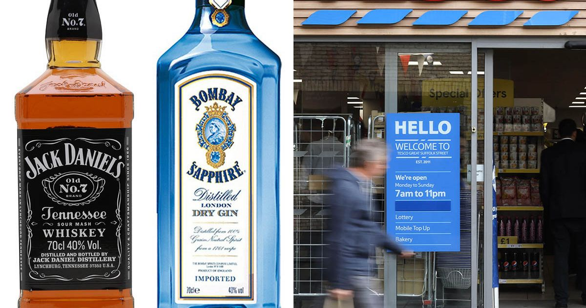 Tesco Slashes The Price Of Bombay Sapphire Gin And Jack Daniel's Whisky photo