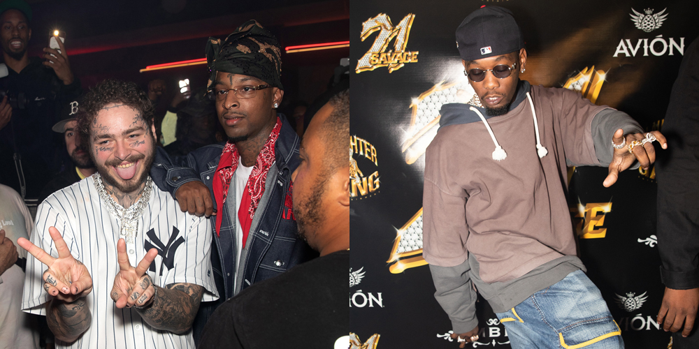 Post Malone, Offset & More Celebrate 21 Savage?s Birthday With Tequila Avion photo