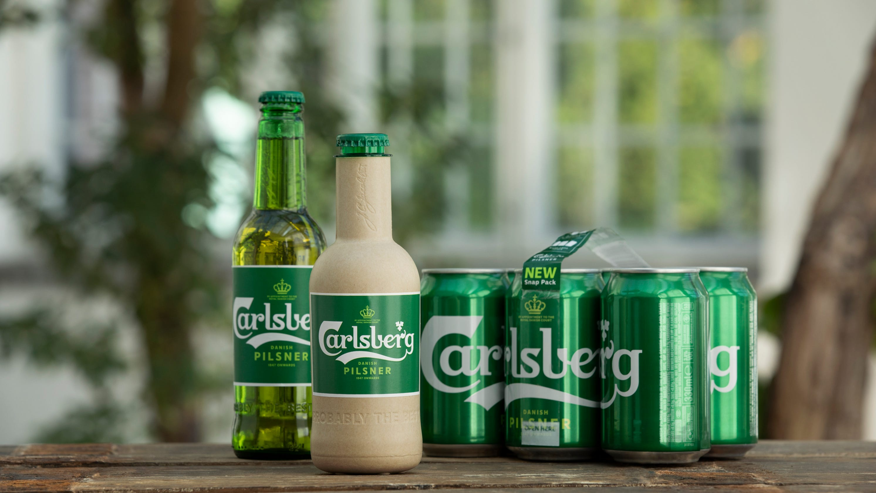 A Paper Beer Bottle? Danish Brewer Carlsberg Is Developing One photo