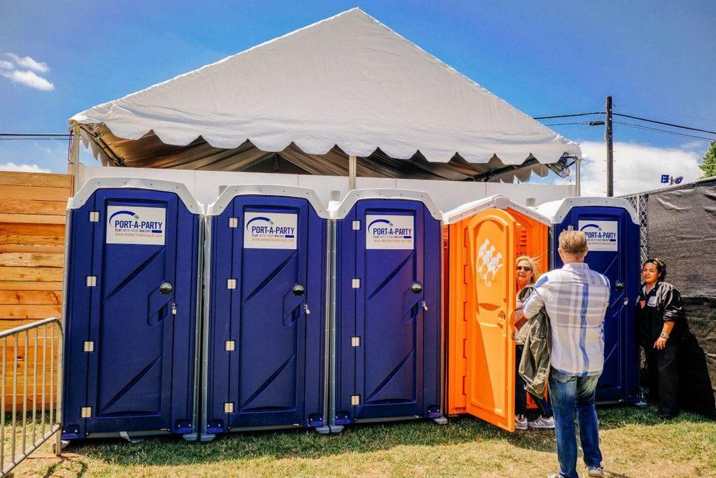 Exclusive: Portable Toilets Are The Only Way Into This Acl Party photo