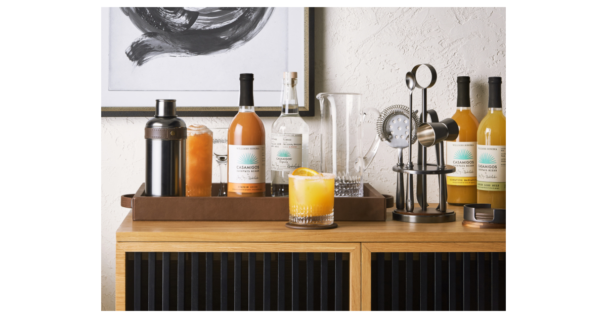 Williams Sonoma And Casamigos Tequila And Mezcal Launch Premium Glassware, Bar Tools And Entertaining Accessories Perfect For Home Entertaining photo
