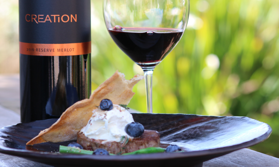 Beef Fillet Paired With Creation Merlot photo