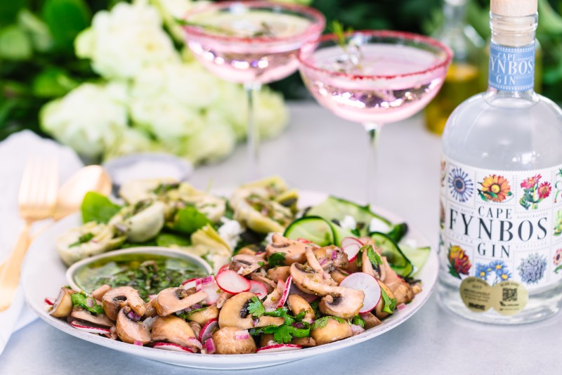 White Button Mushroom Artichoke Salad  4 Scrumptious Mushroom Recipes Paired With Ice Cold Gin Drinks