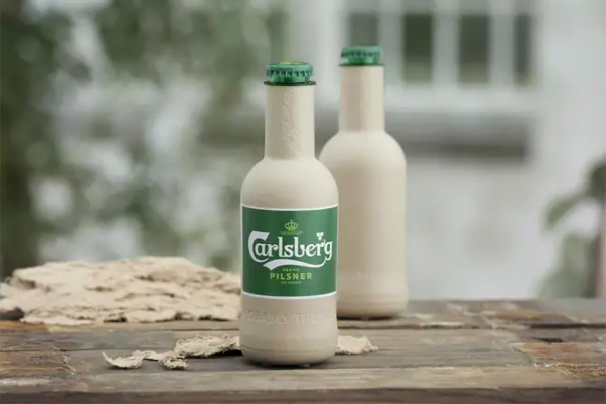 Carlsberg Creates First Paper Beer Bottle In The World photo