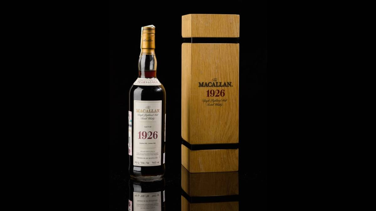 Bottle Of Macallan 1926 Scotch Sells For $1.9 Million, Setting New World Record photo