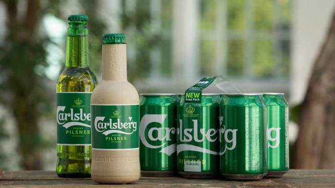 Carlsberg Develops Cardboard Beer Bottles photo