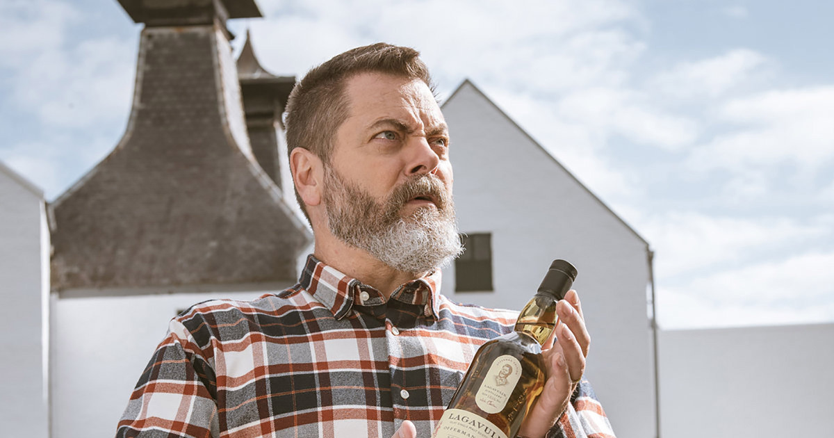 Nick Offerman Is Getting His Own Limited-edition Lagavulin Whisky That He Created Himself photo