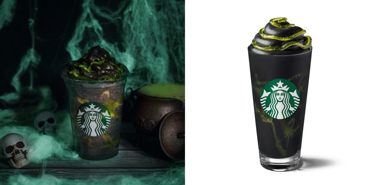 Starbucks Is Selling A Phantom Frappuccino For Halloween That's Topped With Green Slime photo
