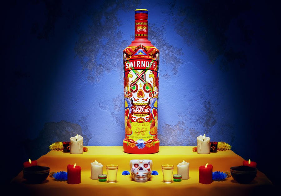 Smirnoff Bottle Captures Symbolism Of Day Of The Dead photo