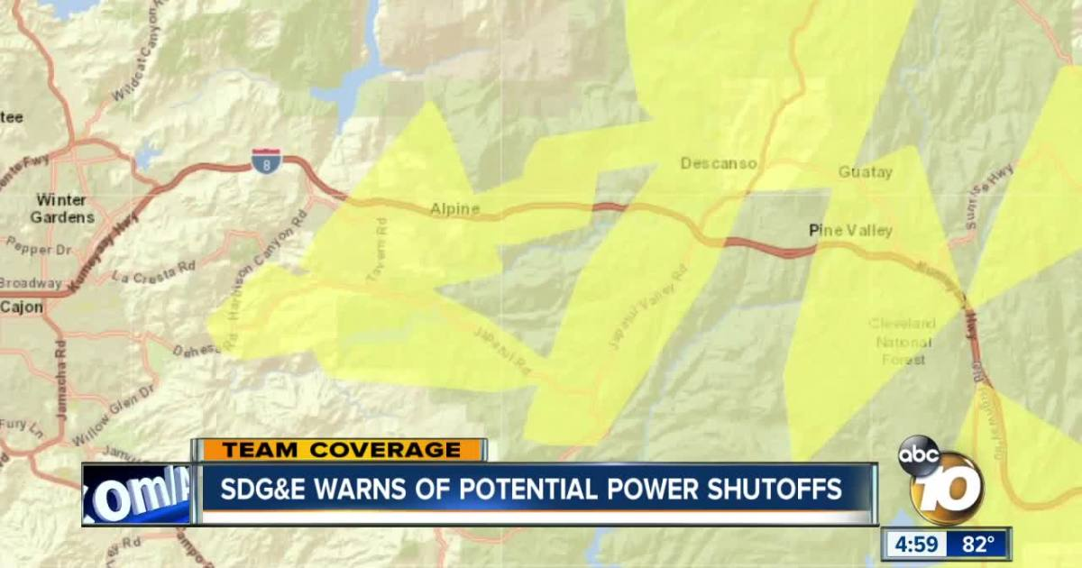 San Diego County Residents Bracing For Possible Outages photo