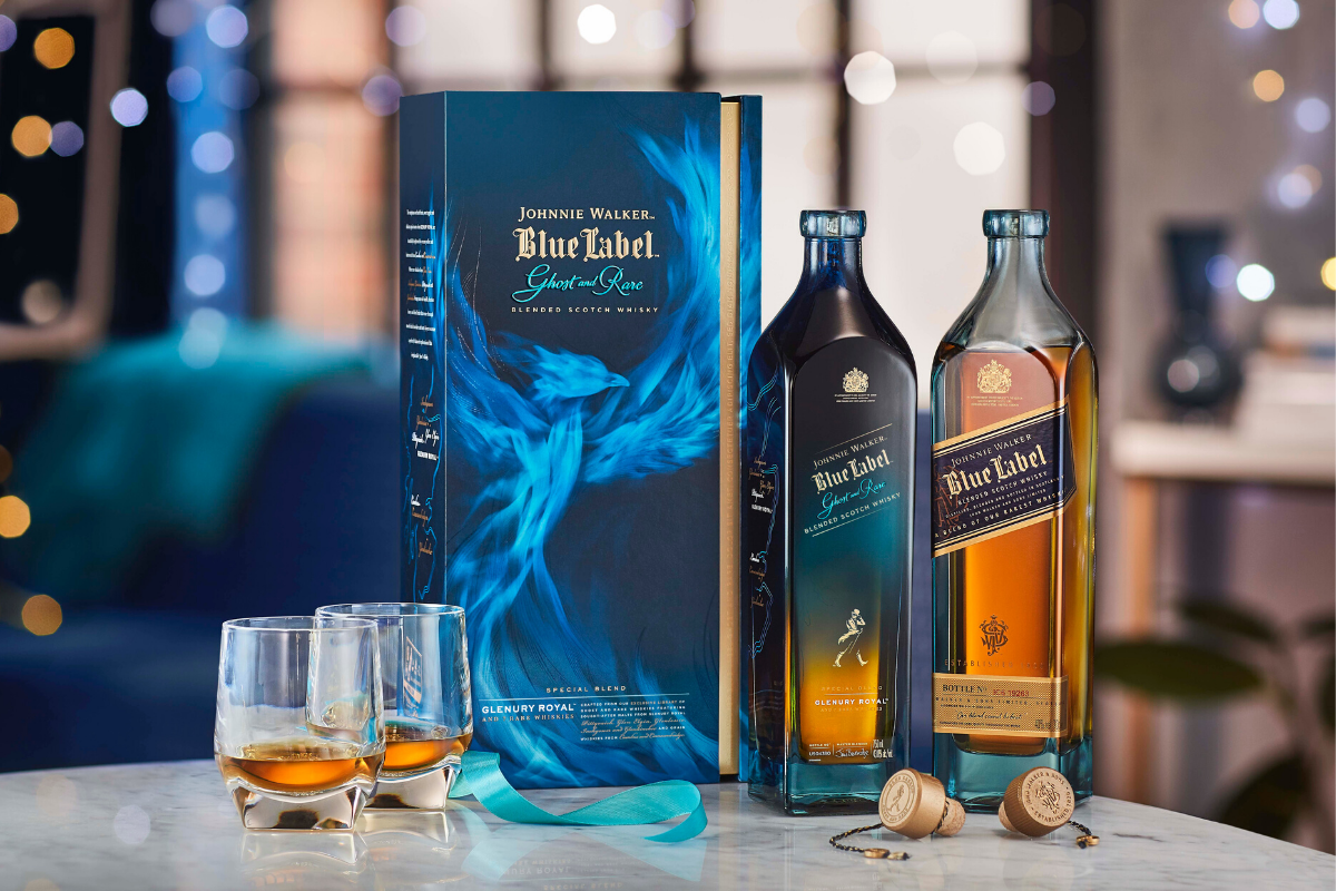 Johnnie Walker Releases New Blue Label Ghost And Rare Glenury Royal Whisky photo