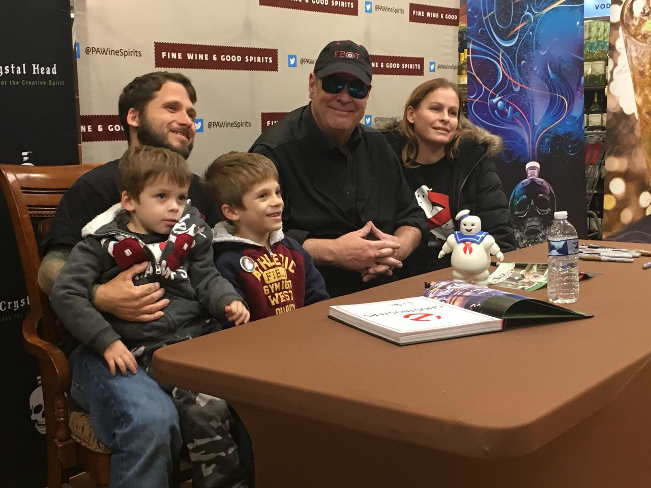 Dan Aykroyd Greets Fans, Signs Bottles Of Vodka (and Dvds, Records, And Toys) At Lancaster Event photo