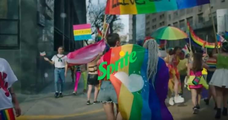 Sprite Soft Drink Ad Features Transgender Celebration photo