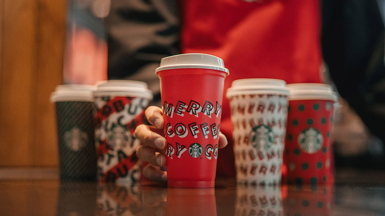 Starbucks' Red Cups Are Back For The Holidays. Here's How To Get A Free Reusable One photo