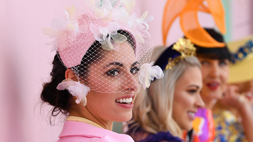 Watch Myer's Fashions On The Field Coverage On Seppelt Wines Stakes Day photo
