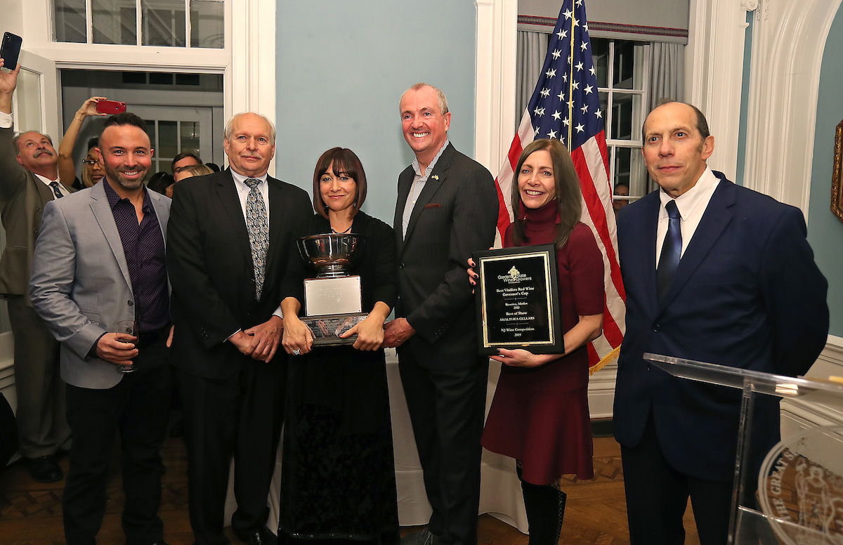 Governor Murphy And First Lady Host New Jersey Wineries, Present Winners Of 2019 Governor's Cups And Best Of Show photo
