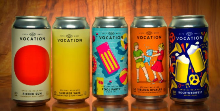 The Label Makers Work With Vocation Brewery photo