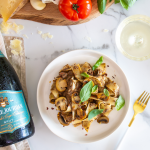 Mushroom Ragu Pappardelle paired with Pierre Jourdan Brut MCC photo