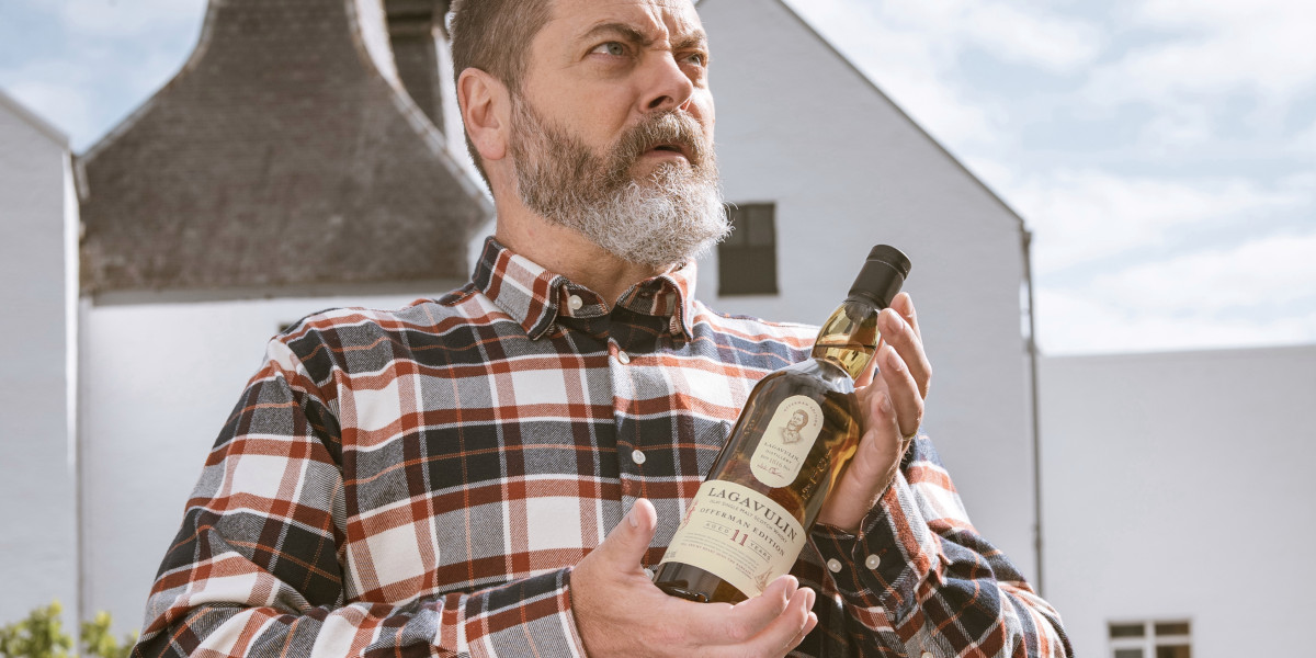 Nick Offerman On His 'ron Swanson' Bottle Of Lagavulin Scotch Whisky photo