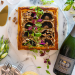 Portabello and Lemony Ricotta Puff Pastry Tart paired with Krone RD photo