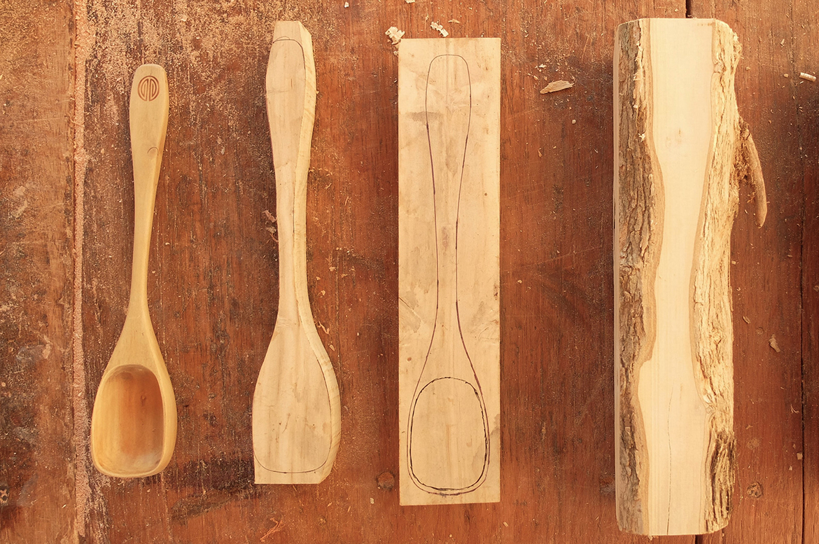These Coffee Scoops Are Made Out Of Wood From Coffee Trees photo