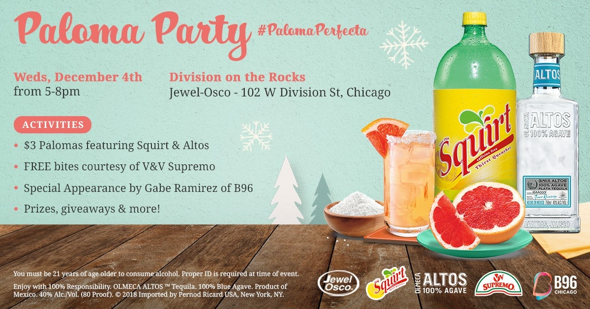 Paloma Holiday Party With Squirt Soda And Altos Tequila photo