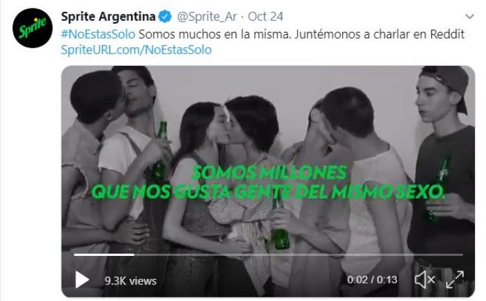 Sprite Launches Pro-lgbt Ad Campaign In Argentina photo