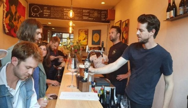 New: Leo?s Is A Wine Bar And Listening Room In A Bagel Shop photo