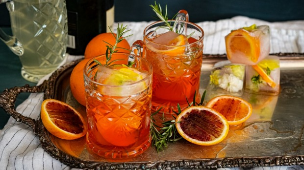 Aperol, Champagne And Rosemary Spritz photo