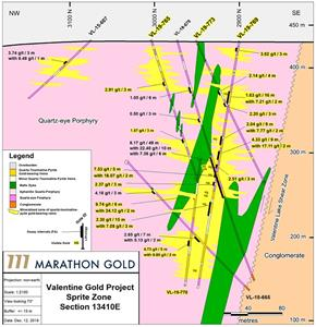 Marathon Gold Reports Positive Drill Results From Sprite Zone, Valentine Gold Project photo