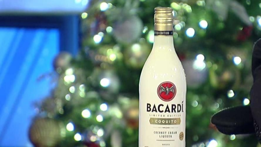 Bacardi Bottles Traditional Coquito Christmas Drink photo