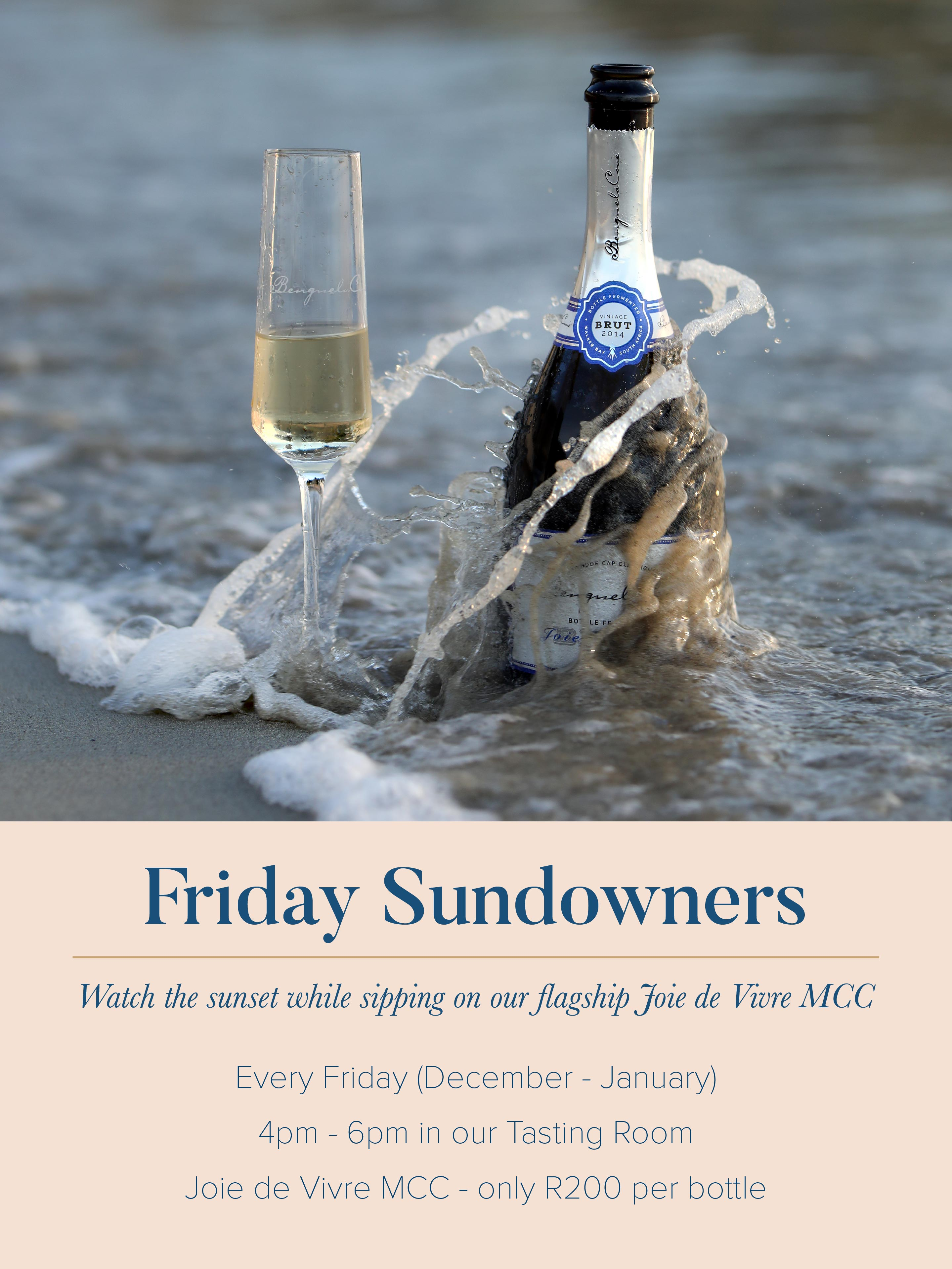 Watch the sunset while sipping on Benguela Cove's flagship Joie de Vivre MCC photo