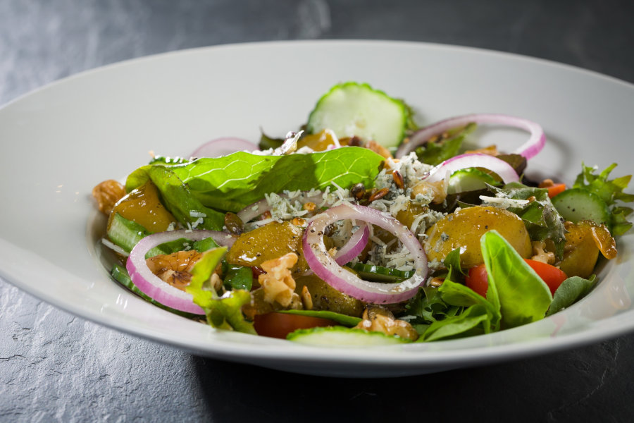 Spice Up Your Festive Table With This Pear, Blue Cheese, & Walnut Salad [recipe] photo