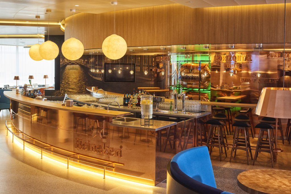 Heineken Bar Extends Dutch Sense Of Place In New Klm Crown Lounge photo